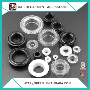 Black White Round Transparent Clear Plastic Grommets Eyelet