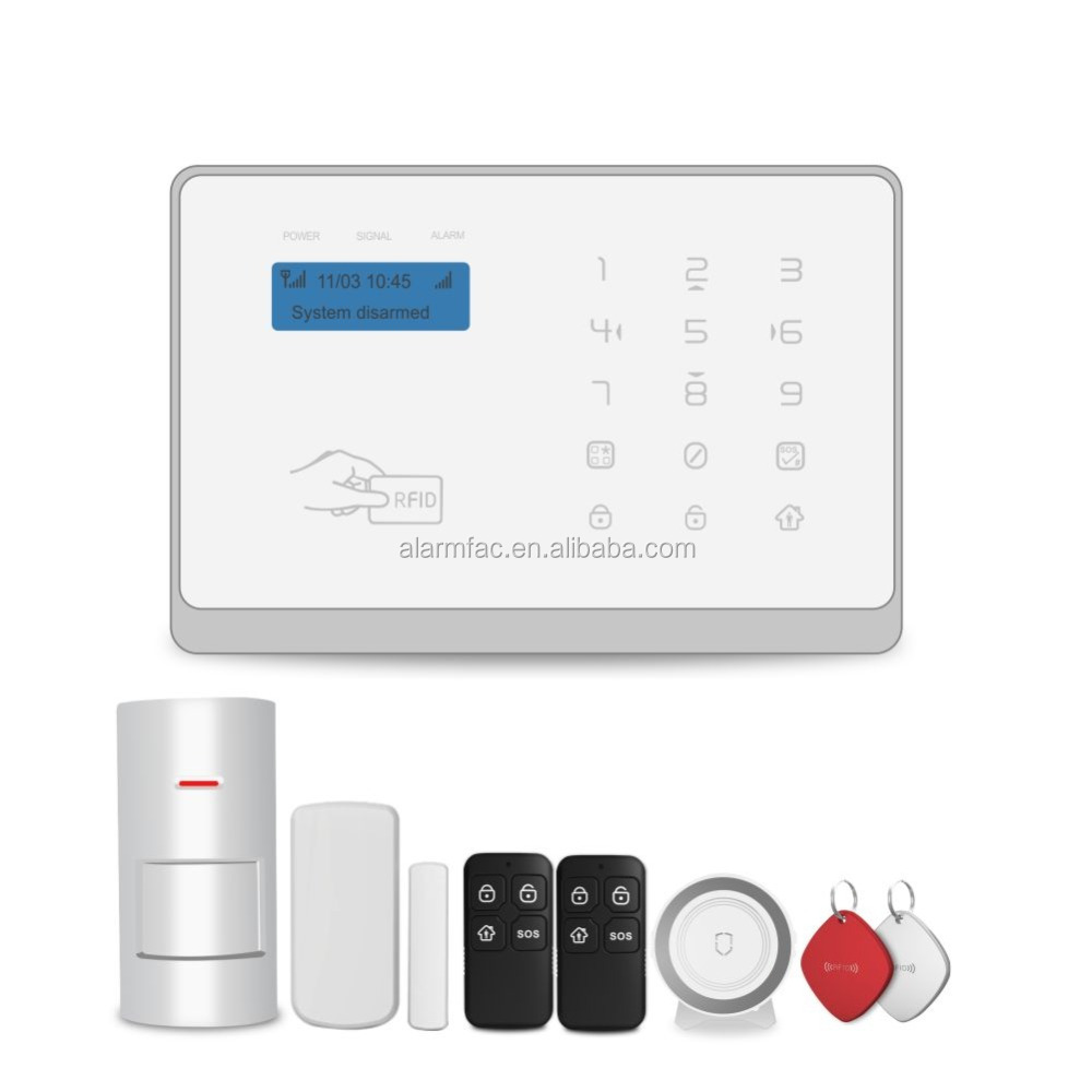 2017 Best selling wireless home security safe alarm system WIFI/GSM/GPRS smart home alarm with Android /IOS APP