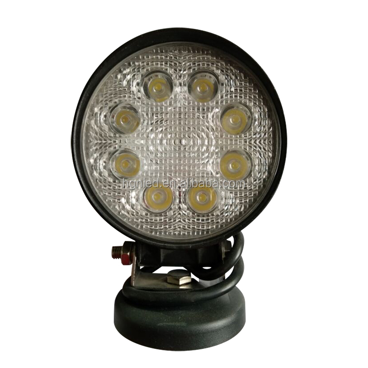 Factory sale truck accessories 12v 24v led light lamp round 24w 10-30v offroad led work light