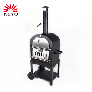 3-in-1 Charcoal Outdoor Pizza Baking Oven Charcoal BBQ Grill Garden Wood Burning Mexican Pizza Oven