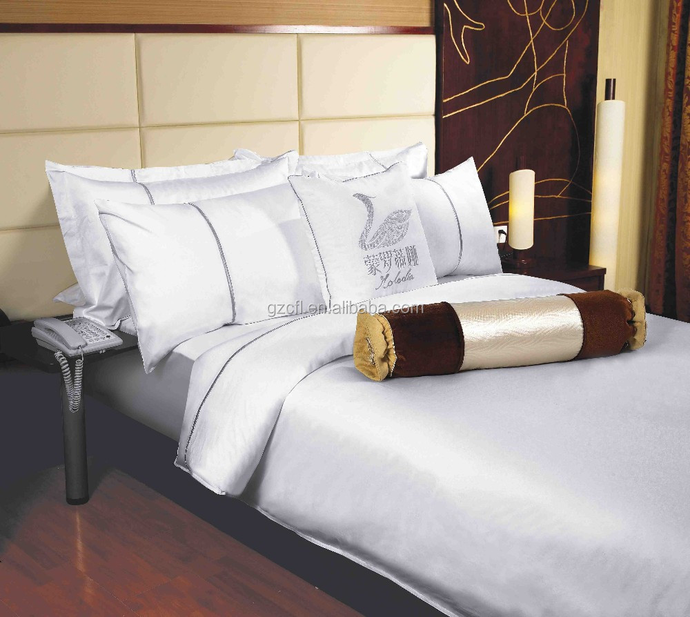50% polyester 50% cotton 200T twin size cheap hotel bed linen