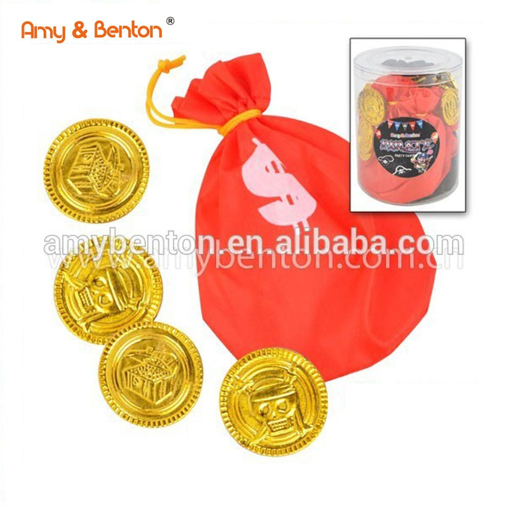 Promotional Custom Coins Plastic Coin Purse Pretend Play Toys Pirate Gold  Coins For Party - Buy Fake Gold Coins,Custom Made Gold Coin,Party Favor  Coin