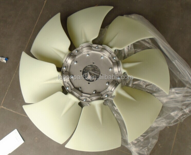 EC210B VOE 1450563 diesel engine cooling plastic fan blade for tropical