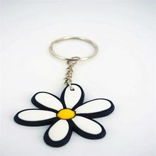 Most popular custom design 3d pvc rubber key chains with many colors