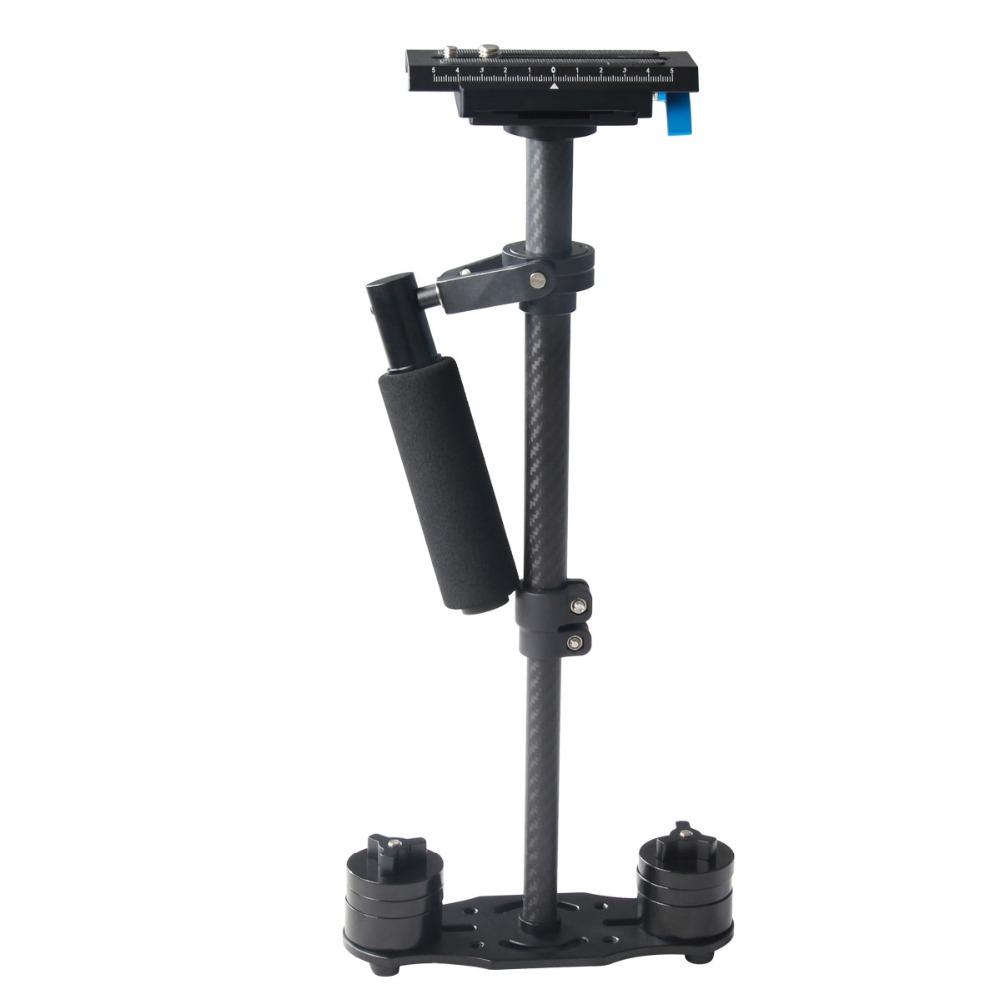 YELANGU 40 CM Taşınabilir Karbon Fiber Mini Kamera Sabitleyici