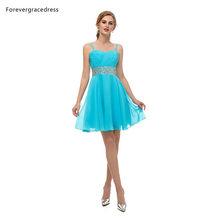 Женское вечернее платье Forevergracedress, синее шифоновое платье без рукавов с открытой спиной, большие размеры на заказ, 2019(Китай)