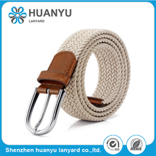 2017 New Fashion Colourful Unisex Mens Woven Stretch Elastic Belt
