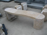 China G682 granite outdoor stone tables and benches for garden