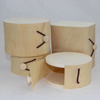 unfinished wood boxes cheap birch veneer round wood cheese box