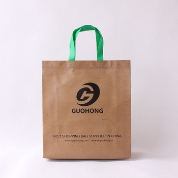 Custom logo t-shirt non woven promotion bag with handle