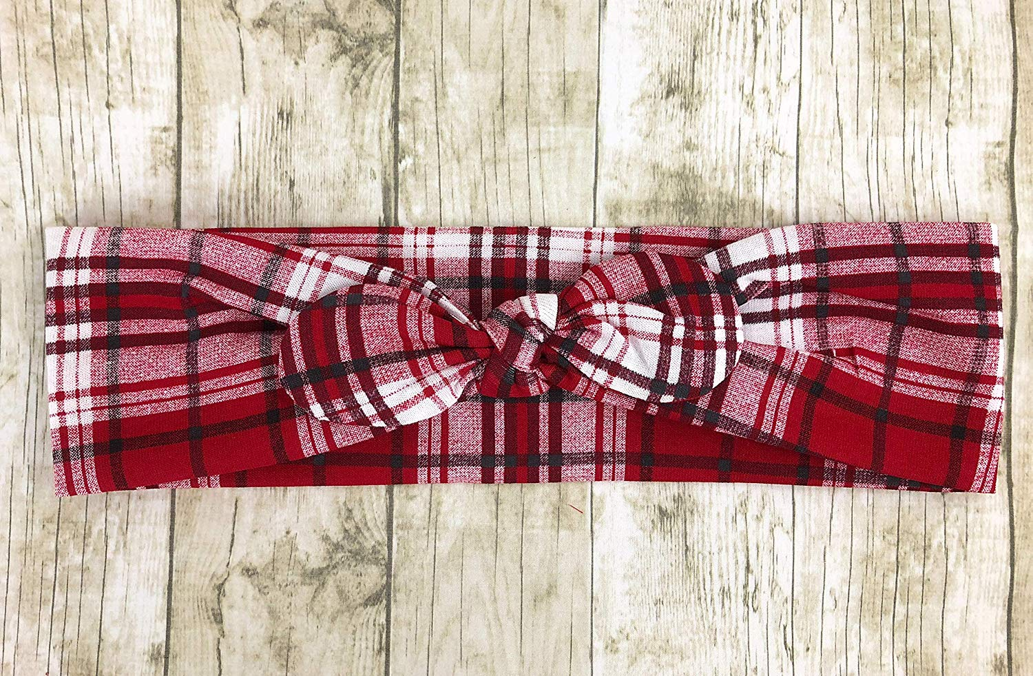 Plaid, Red And White, Faux Turban, Headband, New