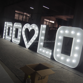 Led Marquee Letter Giant Light Up Lights Waterproof Prop