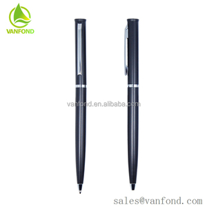Promotional Use Metal Material Black Matte Pen with Your LOGO Custom