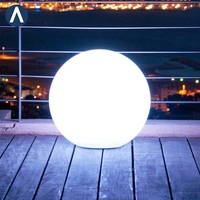 Lights christmas up bowling plastic garden led round ball outdoor light