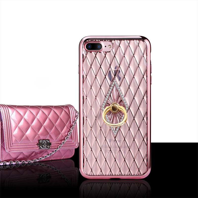 Soft TPU Bling Rhinestone Diamond Ring Case Cover For Samsung Galaxy S7/S7 edge