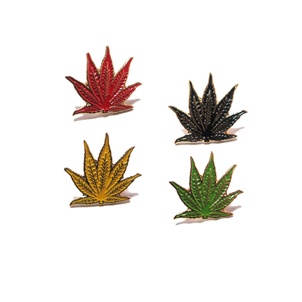 Plants shape enamel pin, different color lapel pin, pin for ornaments