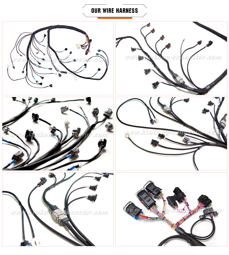 wire harness automotive with 6 pin Deutsch connector and denso connector WD003
