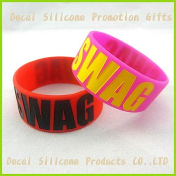 bands wristband debossed silicone wristbands large rubber silicon bracelets
