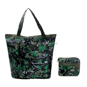 Customized full printed ripstop foldable nylon shopping bag