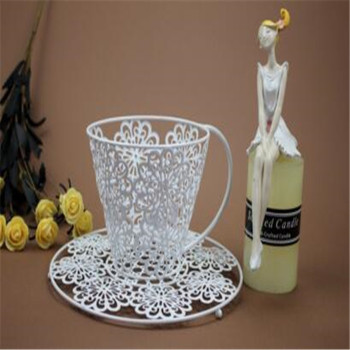 Table decoration metal cup shape candle holder