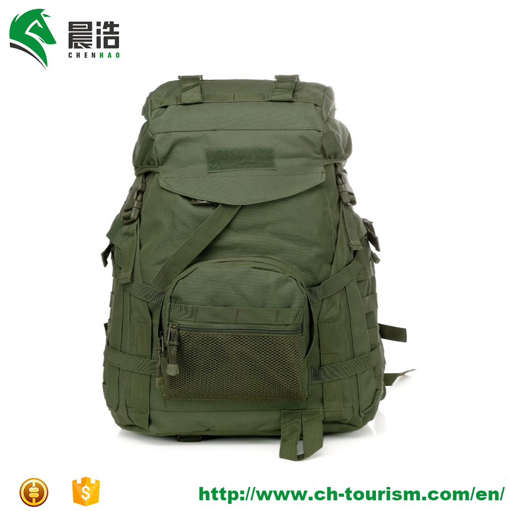 50L large outdoor hiking camping trekking tactical backpack green