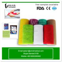 Colored Cotton Cohesive Elastic Bandage Medical Self Adhesive Bandages Medical Tape