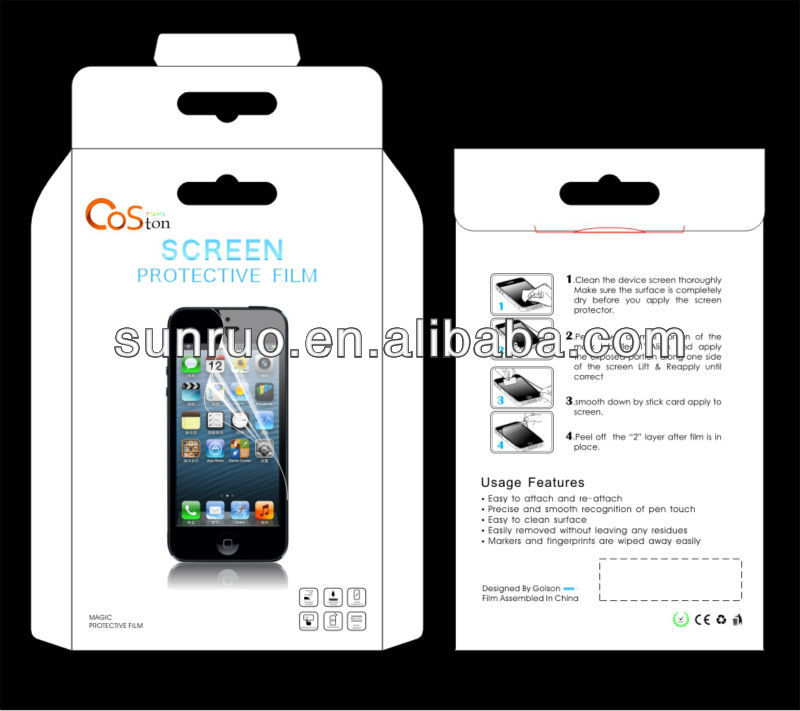 Manufacturer For iPhone 4 4s tempered glass Screen Protector film, for iPhone screen guard, Cell phone screen saver
