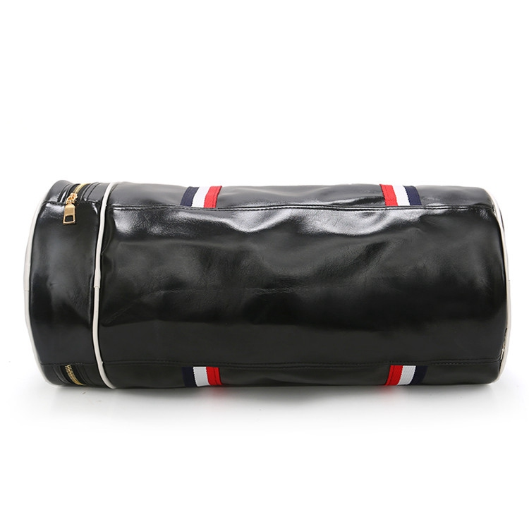 Factory direct pricing Unisex luggage travel PU leather black duffel bags gym custom waterproof sports bag with logo