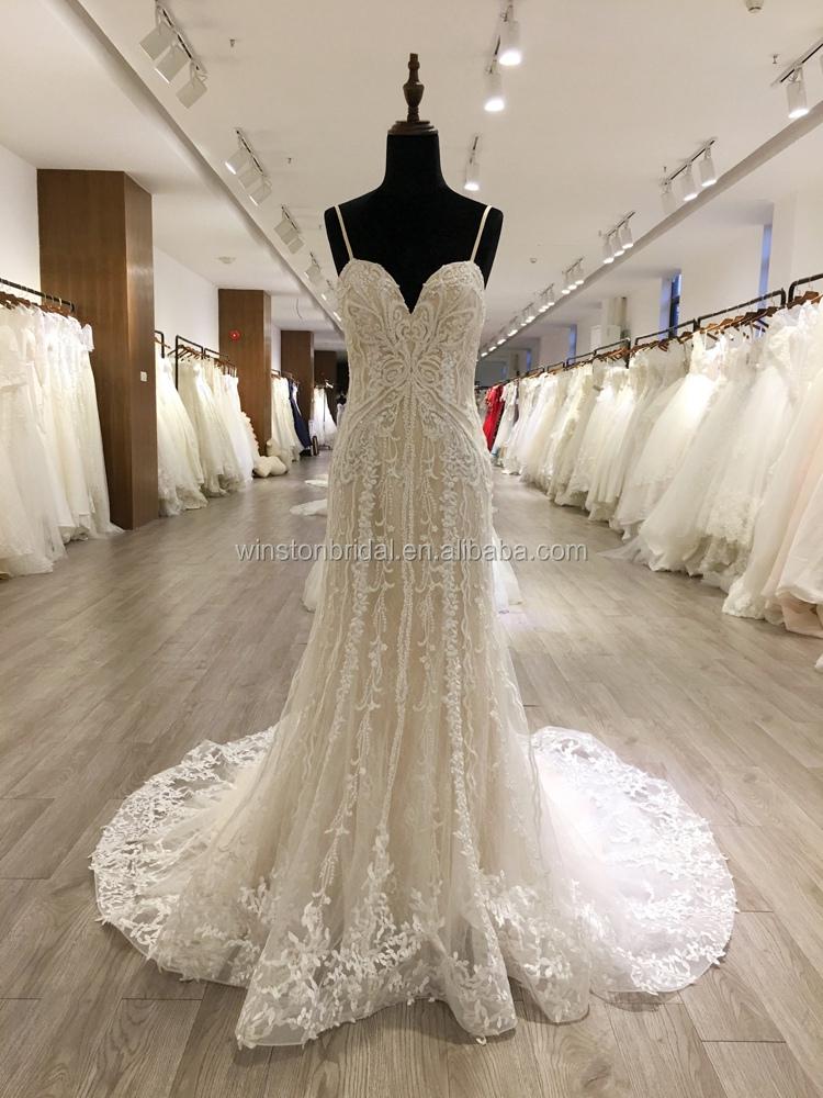 2018 Fashion High Quality V-neckline Wedding Dress Bridal Gown - Buy ...