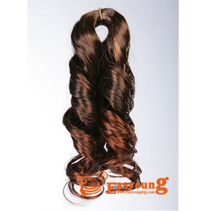 Synthetic hair bulk, hair extension, hair pieces for braiding