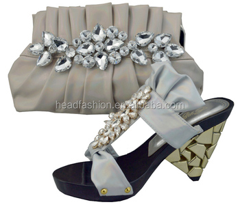 Whole Italian Matching Shoe And Bag Set In Purple Yellow White