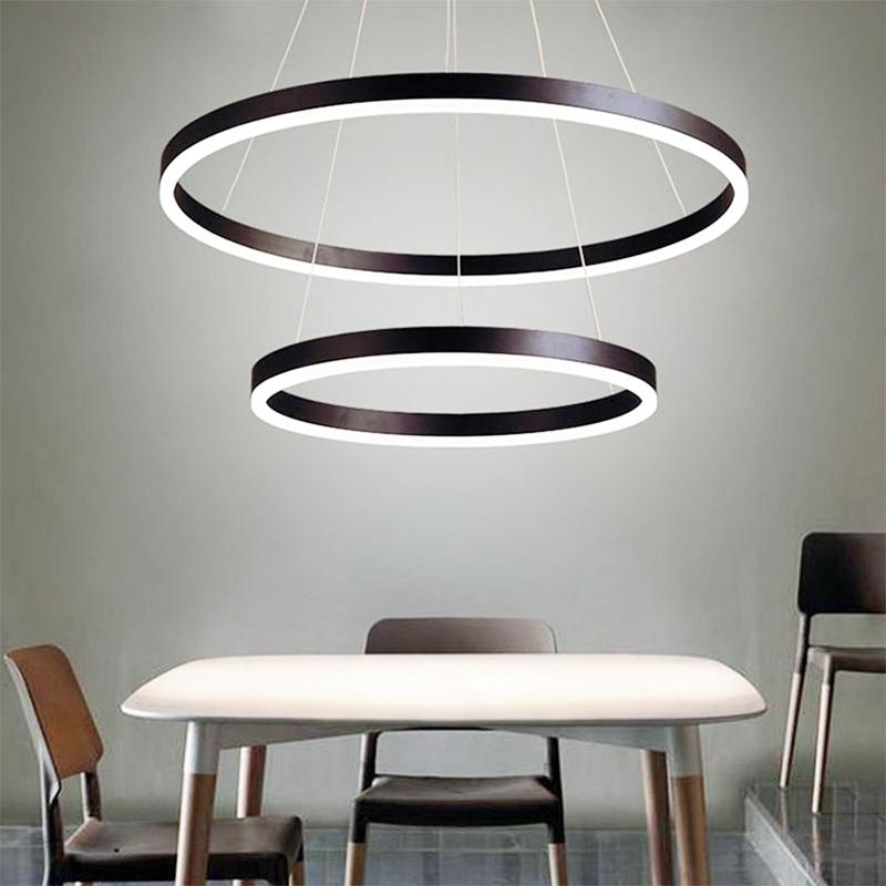 Modern Lighting Fixtures Aluminum Profile Circular Ring Light 3tier 5tier Chandelier