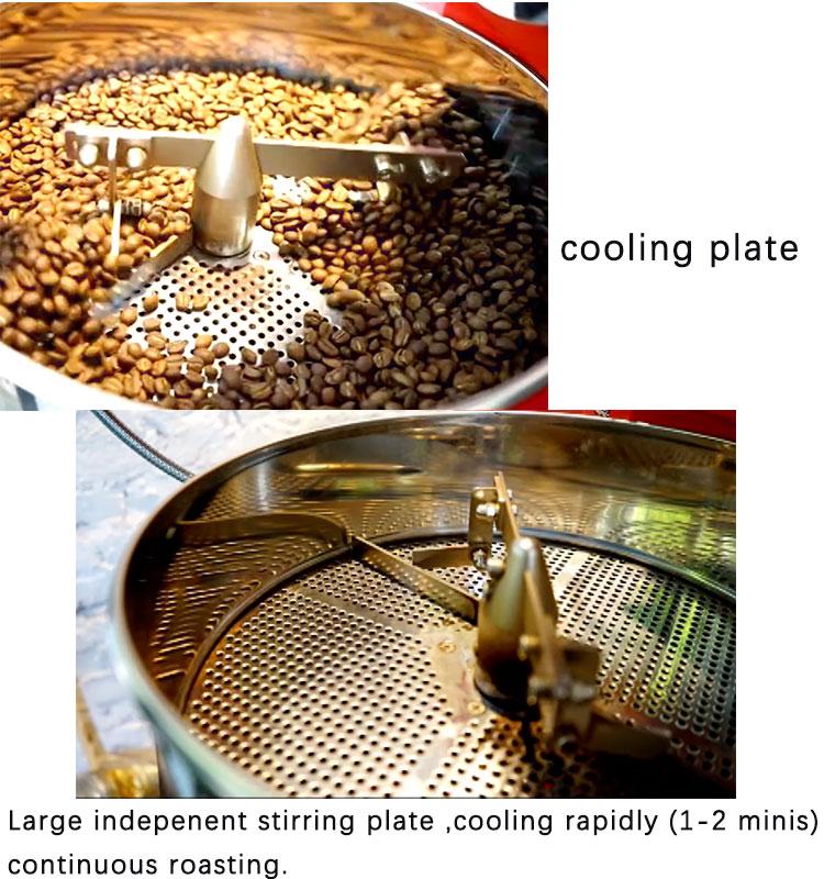 二重壁炭素鋼ドラムコーヒーロースター 1 キロ商業