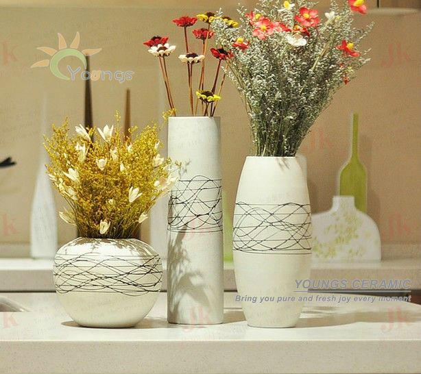 Hogar decorativo pintado a mano cer mica moderna floreros for Decoracion hogar jarrones
