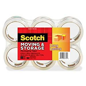 3M Commercial Office Supply Div. Products - Storage Tape, 1-7/8quot;x54.6 Yds., 6 Rolls/PK, Clear - Sold as 1 PK - Scotch Mailing and Storage Tape is designed for light-duty mailing and packaging. Long-lasting adhesive works in hot or cold temperatures so the tape is great for long-term storage.