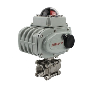 INVCO CF8M CF8 High platform stainless steel electronic ball valve ball