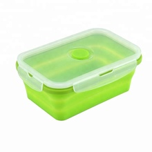 BPA gratis hittebestendige Siliconen 3 <span class=keywords><strong>compartiment</strong></span> maaltijd containers takeaway voedsel containers met lepel bento <span class=keywords><strong>kantoor</strong></span> lunchbox
