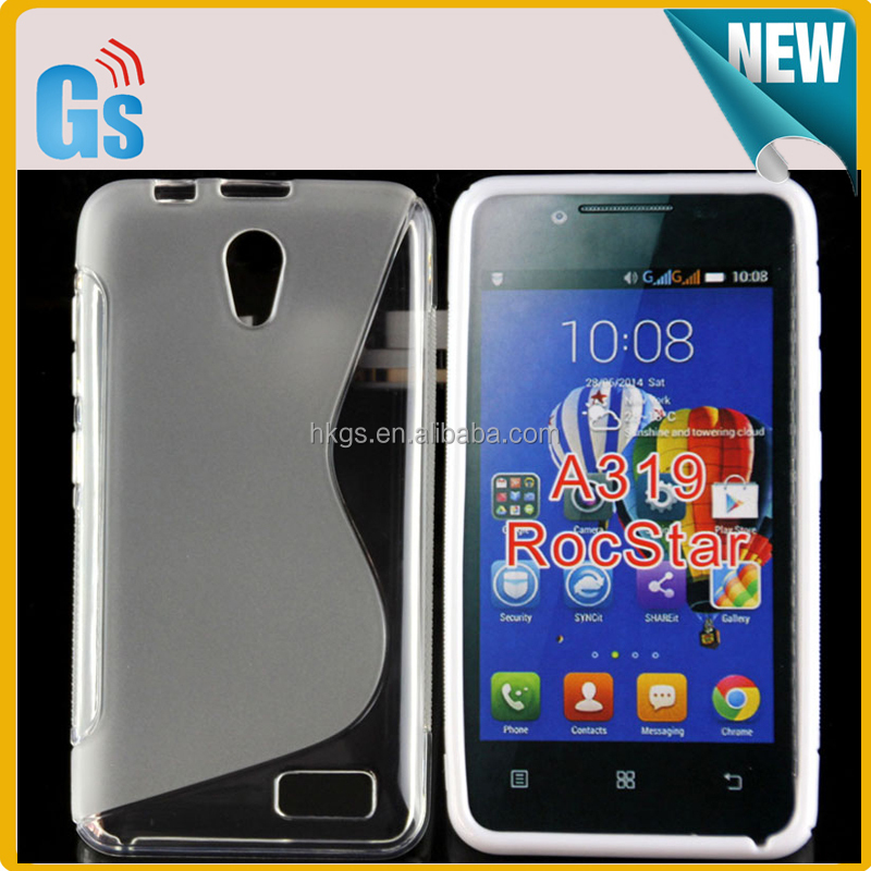 wholesale dealer d07bf efdfb S Line Soft Gel Tpu Cover For Lenovo Rocstar A319 Back Case - Buy Cover For  Lenovo A319,For Lenovo A319 Back Case,Tpu Cover For Lenovo A319 Product on  ...