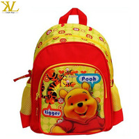 "Red & Yellow Cartoon Bear Pooh 17"" New design school bag, picture of school bag"