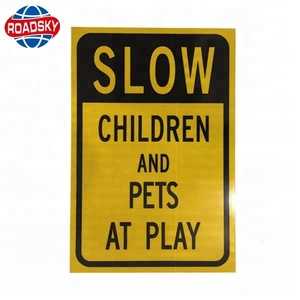 customized reflective road safety warning aluminium square sign