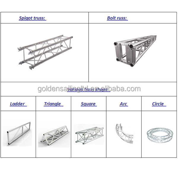 High Quality Stage Lighting Truss Light Weight Rigging Wedding Small