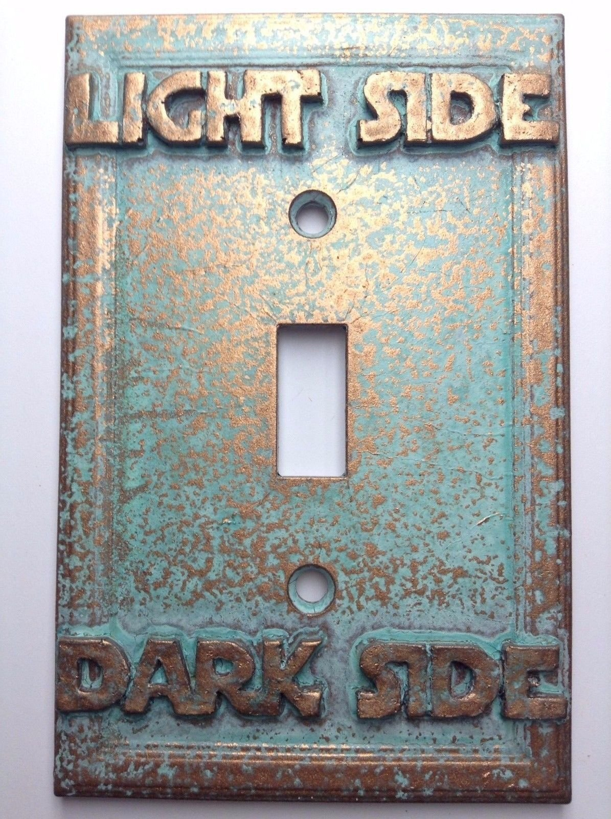 Star Wars (Light/Dark Side) Light Switch Cover (Custom) (Aged Patina)