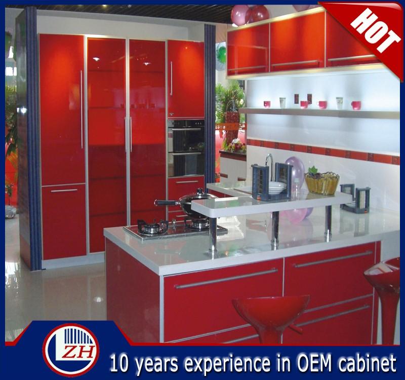 New Model Kitchen: New Model Red Acrylic Kitchen Cabinet Kitchen Full Designs