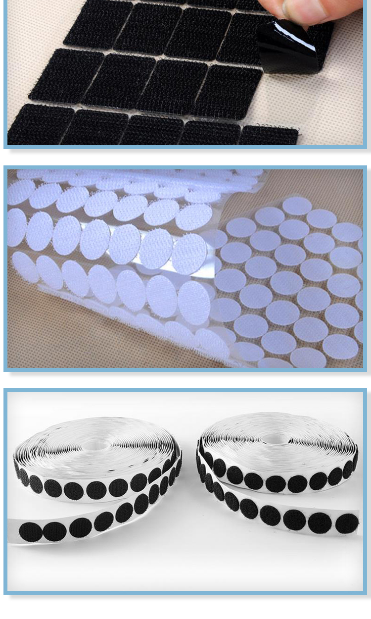 Customized round dot adhesive /sticky hook and loop dots