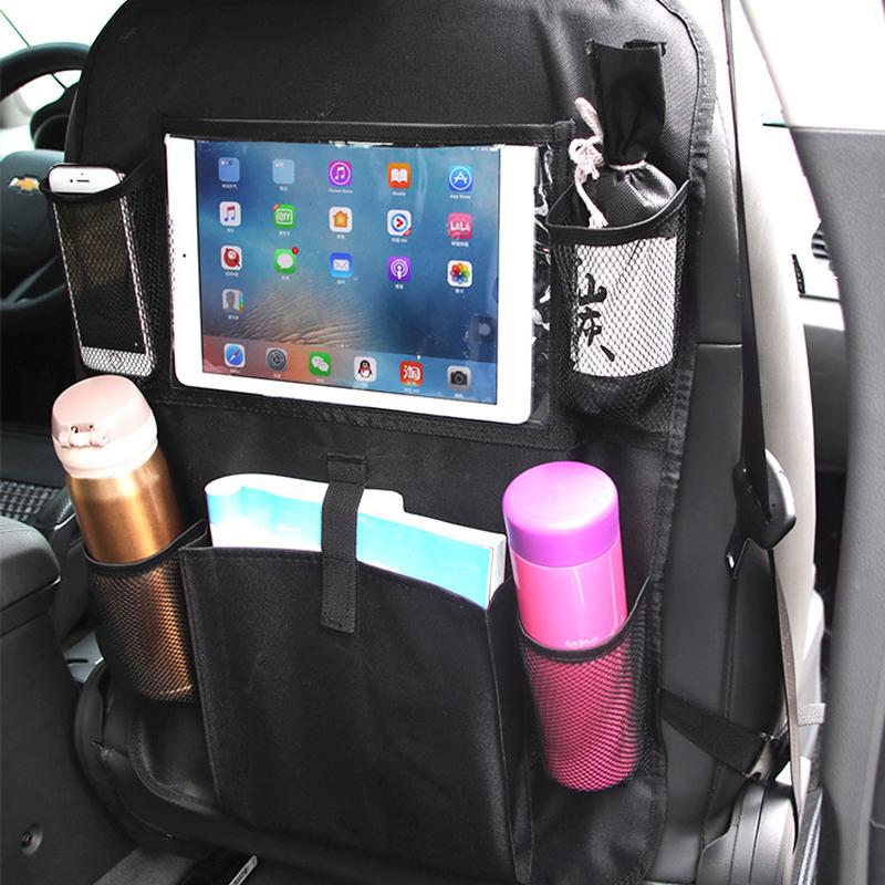 Auto-Rücksitz-Touchscreen-Tablet-Halter-Organizer mit Magazintasche-Flaschenhalter