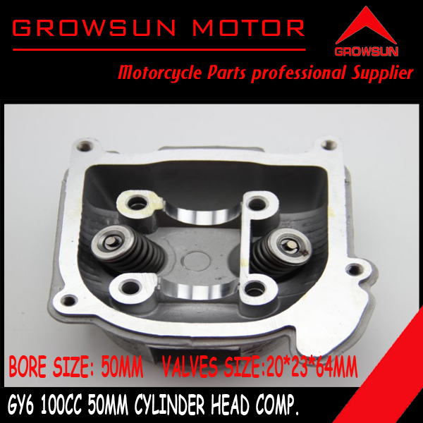 100cc 50mm GY6 Moped Scooter moped ATV engine Cylinder Head comp