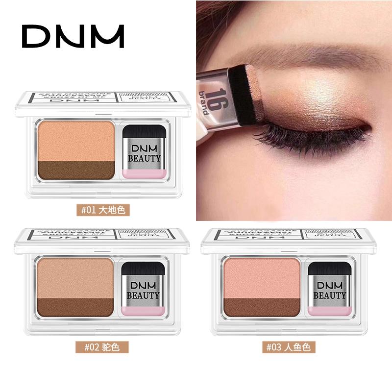 Dnm आलसी आंखों के छायाएं विक्रेता निविड़ अंधकार मैट एकल 2 रंग/सेट के साथ मिनी आंखों के छायाएं ब्रश थोक मेकअप नेत्र छाया