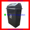 Universal Indoor PP Hotel Bin Plastic Trash Container with Push Lid