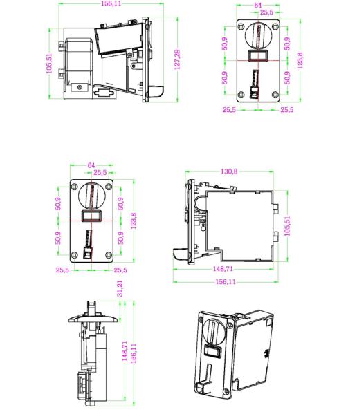 dg600f multi coin acceptor for coffee vending machine