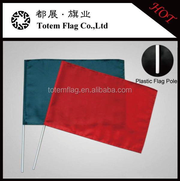 Black Red Hand Waving Flag